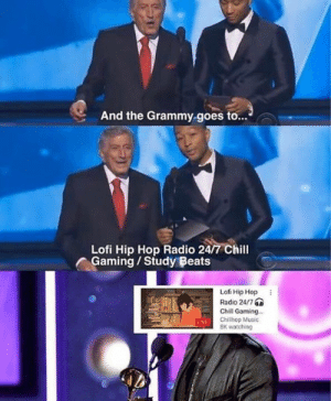 Grammy: And the Grammy goes to...  Lofi Hip Hop Radio 24/7 Chill  Gaming/Study Beats  Lofi Hip Hop  Radio 24/7  Chill Gaming...  LIVE Chillhop Music  8K watching