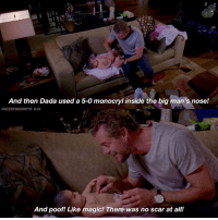 i used monocryl sutures the other day and all i could think of was this scene MARK WAS THE BEST DADDY IM CRYING — factsforgreys_eric factsforgreys_emaandsara greys greysanatomy ericdane marksloan mcsteamy slexie emasolorio sarasolorio soloriotwins emaandsarasolorio saraandemasolorio sofiasloantorres sofiarobbinsloantorres shondaland abc ga tgit like facts likeforlike like4like dancemoms: And then Dada used a 5-0 monocryl inside the big man's nose!  FACTSFORGREYS 8.04  And poof! Like magic! There was no scar at all i used monocryl sutures the other day and all i could think of was this scene MARK WAS THE BEST DADDY IM CRYING — factsforgreys_eric factsforgreys_emaandsara greys greysanatomy ericdane marksloan mcsteamy slexie emasolorio sarasolorio soloriotwins emaandsarasolorio saraandemasolorio sofiasloantorres sofiarobbinsloantorres shondaland abc ga tgit like facts likeforlike like4like dancemoms
