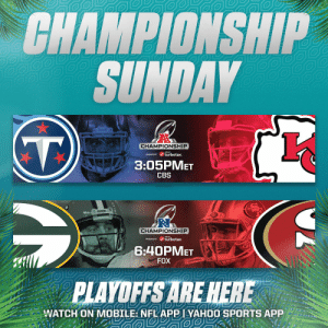 And then there were four...  Can't wait for Championship Sunday. #NFLPlayoffs #WeReady https://t.co/Dp2uB0IE3i: And then there were four...  Can't wait for Championship Sunday. #NFLPlayoffs #WeReady https://t.co/Dp2uB0IE3i