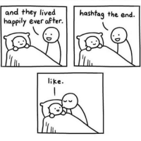 Ever After, Hashtag, and They: and they lived  happily ever after.  hashtag the end  like.