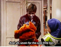 Candy, Cute, and Dad: And,uh, seven for the cute little lion istoledrewsbaby:  atrafeathers:  pixiedust-paycheck:  OH MY GOD IT TOOK ME LIKE A FULL MINUTE AND LAUGHED SO HARD WHOOAAAAaaa  #i dON'T GET IT the one handing out the candy is Jonathan Taylor Thomas, the voice of Simba in The Lion King. His dad in the show is Tim Allen, the voice of Buzz Lightyear.  OMG