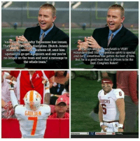 Opinions how y'all feel about this ??: And vou Wonder why Tennessee has issues.  They don'thave any discipline. (Butch Jones)  should've taken his uniform off, sent him  upstairsto go get a popcorn andsay you're  no longer on the team and sent a message to  the whole team.  My man @bakermayfield6 is VERY  misunderstood! His competitive spirit is special  and sure sometimes has gotten the best of him.  But, he is a good man that is driven to be the  best. Congrats Baker!  ERS  GAULDEN  elaware  7  28  FINAL Opinions how y'all feel about this ??