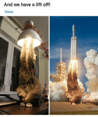 Funny, Memes, and 🤖: And we have a lift off!  Funny Nailed it.