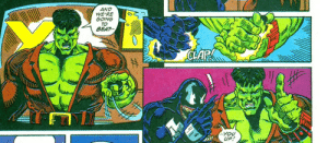 Hulk and Venom, an Incredible  Lethal Duo: AND  WE'RE  GOING  TO  BEAT  CLAR  --YOu  UP Hulk and Venom, an Incredible  Lethal Duo