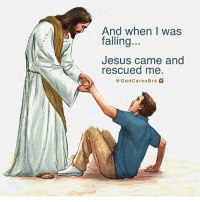 Thank you Lord!: And when I was  falling  Jesus came and  rescued me  God Cares Bro Thank you Lord!