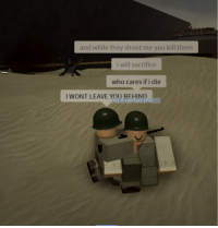 Brave Solider prepares to give his life for his fellow man on D-Day. (Circa June 1944, Colorized): and while they shoot me you kill them  i will sacrifice  who cares if i die  I WONT LEAVE YOU  UNR-  PIKACHU0070'9 Brave Solider prepares to give his life for his fellow man on D-Day. (Circa June 1944, Colorized)