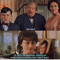 Birthday, Family, and Friday: And you?  I'll be in my bedroom, making no  noise and pretending that I don't exist. l u m o s ☼ – ↬ thechamberofsecrets ↬ Harry and the Dursley Family – This is so iconic 👏 It is my birthday on Friday, and I would love to reach 5K by then! We are so close, thank you so so much ✨ – Q; Favourite hp movie? A; PoA 💕 – N o x ☀︎