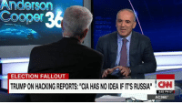 "Anderson  Coop  ELECTION FALLOUT  TRUMPONHACKING REPORTS: CIA HAS NO IDEAIF ITISRUSSIAH CNN  8:53 PM ET  AC360° Gary Kasparov: ""Let's stick with the facts. Vladmir Putin's global propaganda machine helped get Trump elected."""