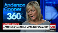 """""""If you don't mean it, don't say it"""" Arianne Zucker on a Donald J. Trump apology   http://cnn.it/2eh4eQD: Anderson  Cooper  BREAKING NEWS  ACTRESS ON 2005 TRUMP VIDEO TALKS TO AC360°  CNN  6:30 PM PT  AC360° """"If you don't mean it, don't say it"""" Arianne Zucker on a Donald J. Trump apology   http://cnn.it/2eh4eQD"""