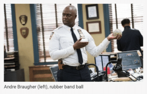 Target, Tumblr, and Appreciate: Andre Braugher (left), rubber band ball jakeperallta:  i really appreciate the helpful caption on this photo
