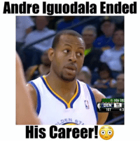 "Iggy is a savage for this!😖 @andre @andre @andre - Comment ""W"" 3 times! - Follow @floaters for more!: Andre Iguodala Ended  NBA GRE  DEN 11  4:3  His Career! Iggy is a savage for this!😖 @andre @andre @andre - Comment ""W"" 3 times! - Follow @floaters for more!"