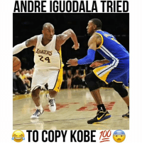Kobe's put him on a poster but Andre couldn't do the dunk😱: ANDRE IGUODALA TRIED  AKERS  24  TO COPY KOBE Kobe's put him on a poster but Andre couldn't do the dunk😱