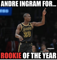 Nba, Dream, and For: ANDRE INGRAM FOR  wish  20  ONBAMEMES  ROOKIE OF THE YEAR The NBA dream continues.