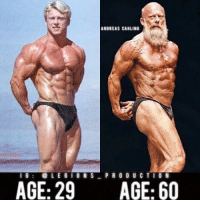 "🔥😳DEDICATION IS KEY! Founder 👉: @king_khieu. From 29 years old to 60 years old. Thoughts? Opinions🤔? What do you guys think? COMMENT BELOW! Athlete: @andreascahling. TAG SOMEONE who needs to lift! _________________ Looking for unique gym clothes? Use our 10% discount code: LEGIONS10🔑 on Ape Athletics 🦍 fitness apparel! The link is in our 👆 bio! _________________ Check out our principal account: @fitness_legions for the best fitness and nutrition information! Like✅ us on Facebook👉: ""Legions Production"" for a chance at having a shoutout. @legions_production🏆🏆🏆.. . . . . . . cardio cardioworkout cardiotime nopainnogain personaltrainer personaltrainers pain burn intense physical improve improvement challenge challenges overcome struggle strive effort dominate compete competitor competition exercise muscle muscles musclegain protein competitive exercises bodybuilding: ANDREAS CANLIND  I G  @LEGION S  PRODU CTION  AGE: 29  AGE: 60 🔥😳DEDICATION IS KEY! Founder 👉: @king_khieu. From 29 years old to 60 years old. Thoughts? Opinions🤔? What do you guys think? COMMENT BELOW! Athlete: @andreascahling. TAG SOMEONE who needs to lift! _________________ Looking for unique gym clothes? Use our 10% discount code: LEGIONS10🔑 on Ape Athletics 🦍 fitness apparel! The link is in our 👆 bio! _________________ Check out our principal account: @fitness_legions for the best fitness and nutrition information! Like✅ us on Facebook👉: ""Legions Production"" for a chance at having a shoutout. @legions_production🏆🏆🏆.. . . . . . . cardio cardioworkout cardiotime nopainnogain personaltrainer personaltrainers pain burn intense physical improve improvement challenge challenges overcome struggle strive effort dominate compete competitor competition exercise muscle muscles musclegain protein competitive exercises bodybuilding"