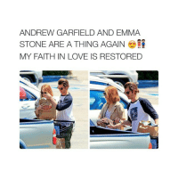 SHOUld I nap: ANDREW GARFIELD AND EMMA  STONE ARE A THING AGAIN  MY FAITH IN LOVE IS RESTORED SHOUld I nap