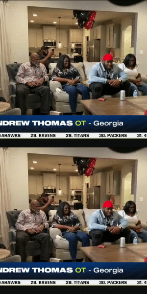 Andrew Thomas is a Giant and he's pumped about it. 💪 @allforgod_55 #NFLDraft https://t.co/p3TD5s1ZTp: Andrew Thomas is a Giant and he's pumped about it. 💪 @allforgod_55 #NFLDraft https://t.co/p3TD5s1ZTp