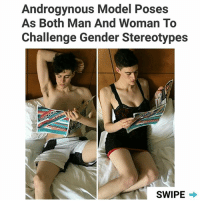 "Dove, Memes, and Rain: Androgynous Model Poses  As Both Man And Woman To  Challenge Gender Stereotypes  SWIPE This is Rain Dove (@raindovemodel) who claims ""gender thing doesn't exist"". What do you think? 