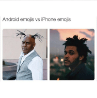 Android emojis vs iPhone emojis i for real cringe everytime i see an android emoji. either way they're still a better substitute for emotions.