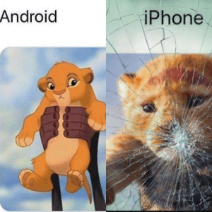 Android, Dank, and Iphone: Android  iPhone Someone thought they could be cheeky and show the difference between Android and iPhone Someone else fixed it to make it more accurate. by IAmAMan251 MORE MEMES