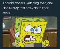 Android, Ass, and Cute: Android owners watching everyone  else airdrop test answers to each  other  _Blockaye What y'all doing if y'all find this cute ass girl and found out she owns a android ?