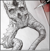 Memes, Coffee, and Cthulhu: Andy Brase Morning Coffee sketching Creature of the Skeleton Sea WIP detail from a concept sketch andybrase pencils pencilsketch sketching creaturedesign originalcharacter characterdesign creature monsterart fantasyart conceptart conceptartist skull tentacles lovecraft cthulhu traditionalart graphite artoftheday