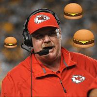 """Andy Reid, Sports, and Good: Andy Reid describes what it's like to call the perfect play: """"That's like a good cheeseburger."""" YUM 🍔"""