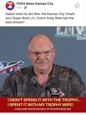 Andy Reid wants everyone to know he fucks: Andy Reid wants everyone to know he fucks