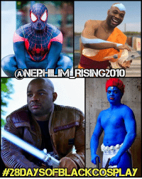 Memes, Mystique, and 🤖: (ANEPHILIMLIRISING2010  #28 DAYSOFBLACKCOSSPLAY My ninth 28daysofblackcosplay feature goes to @nephilim_rising2010! 🙌🏾 One of my first cos-bros and a master of all forms of cosplay-bending (his gender-bent Mystique is amazing) - this guy is the best! Be sure to check out his page and give him a follow! -- Also be sure to follow @cosplayofcolor for daily cosplay photography that emphasizes diversity and representation. 👌🏾
