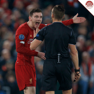 Robertson: VAR is supposed to be on our side  Ref: This isn't Premier League. https://t.co/jcZEj7CqWR: ANFIELD  WATCH  PECT  Sta  Ch  WANISHING SPRAY Robertson: VAR is supposed to be on our side  Ref: This isn't Premier League. https://t.co/jcZEj7CqWR