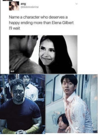 Gif, Good, and Happy: ang  @dobrevsbrina  Name a character who deserves a  happy ending more than Elena Gilbert  I'll wait  GIF This was a pretty good movie in my opinion