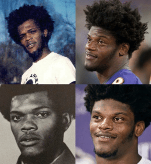 I'm 100% convinced Lamar Jackson is Samuel L. Jackson's illegitimate son https://t.co/iV4UUroKBS: ANGE I'm 100% convinced Lamar Jackson is Samuel L. Jackson's illegitimate son https://t.co/iV4UUroKBS