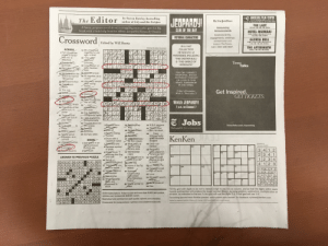"""NYT crossword today. Halfway through it I was like what the hell this can't be......: ANGELIKA FILM CENTER  JEUPARDY!  tor author of Lily and the Octopus  Ehe Aew jorkEimes  Corner of Houston & Mercer (212) 995-2000  THE LAST  10:15AM, 1:00, 4:00, 7:00, 9:50PM  A funny, poignant novel about a struggling writer who gets his big  break with a little help from his editor, Jacqueline Kennedy Onassis  Announcing  Announcements  PUTNAM  CLUE OF THE DAY  HOTEL MUMBA  10:30, 11:30AM, 120, 220, 4:10,5:10  7:10, 8:00, 10:00, 10-50PM  Celebrate births  engagements, weddings,  anniversaries and  more in The Times.  Call 1-800-238-4637  FICTIONAL CHARACTERS  Crossword Edited by Will Shortz  GLORIA BELL  10:00, 11:10AM, 12.20, 1:40, 245, 4:15,  5:15,6:45, 7:45, 9:15, 10:15Pm  IN A 1947  COLLECTION  HE SOLVED 12  MYSTERIES, INCLUDING  THE AFTERMATH  1:05AM, 1:50, 4:30, 7.05, 9.35PM  PUZZLE BY JOEL FAGLIANO  ACROSS  et  of nands 2  THE CRETAN BULL  & """"THE GIRDLE OF  Ti  meTalks  nas  stellatio  FOR THE CORRECT  RESPONSE, WATCH  JEOPARDY! TONIGHT  OR LOOK IN THIS  SPACE TOMORROW  IN THE TIMES  018 hit memoir 45 All together, as a  en  Get Inspired  GETTICKETS  7 p.m. on Channel 7  migrants' rights  t get out of  E Jobs  en  7 Tens and tons 28 What many of 46 Catch red  8 Rainbow symbol  handed  oundi  thers wore  '' rule venetian  judged o  American Idol  2 3 4 1  412 3  /Amolving the king  ANSWER TO PREVIOUS PUZZLE  32 An obtuse one is so  nd so on  GHOSTGUNS BOISE  REHEARSAL EASEL  OR GANICMATERIAL  CEOS PEEKIN TOE  ESO MENDEL D ST  RYDER SAD MEATY  you  35 Home of the Taj  Sla  54 Mic  he Notorious  DOGTOY S VESPERS  DURHAM MICAH  STEED DAN DIVOT  omen  to  ill the grid with digits so as not to repeat a digit in any row or column, and so that the digits within each  ined box will produce the target number shown, by using addition, subtraction, multiplication or  MAT PANGEA RATS  Online subscriptions: Today's puzzle and more than 9,000 past puzzles,  division, as indicated in the """