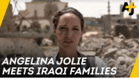 Isis, Memes, and Angelina Jolie: ANGELINA JOLIE  MEETS IRAQI FAMILIES Angelina Jolie met families in Mosul a year after the city was recaptured from ISIS.