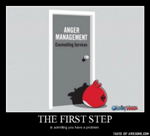 The First Stephttp://omg-humor.tumblr.com: ANGER  MANAGEMENT  Counselling Services  ODaiyHAHA  THE FIRST STEP  Is admitting you have a problem.  TASTE OF AWESOME.COM The First Stephttp://omg-humor.tumblr.com