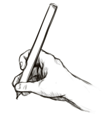 Gif, True, and Tumblr: angrymintleaf:  marcosclopezblog:  marcosclopezblog:  taiikodon:  pomki:  baconpal:  nononfrag:  osakasa:  This is how I hold a pen in case you were wondering   git gud     Step aside, boys  using hands. plebs.        It got better