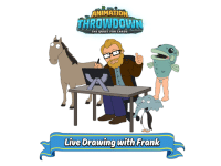 Anime, Dank, and Family Guy: ANIMATION  THROWDOWN  THE QUEST FOR CARDS  O O  Live Drawing with Frank Like to draw? Find out how Family Guy hero's and cards come to life in Animation Throwdown: The Quest for Cards . Starts @ 1pm PST - http://fox.tv/2hpQEOm