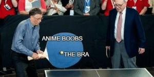Anime, Boobs, and Bra: ANIME BOOBS  THE BRA Great template invest now or miss the profit ball via /r/MemeEconomy https://ift.tt/2Hb21aA