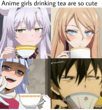 anime: Anime girls drinking tea are so cute  @hiroyukisaito