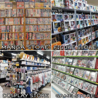 Memes, Cosplay, and Game: animes  95  435  MANGA STORE FIG  STORE  COSPLAY STORE  GAME STO MANGA,FIGURE,COSPLAY,or GAME? 😍 . . .
