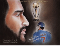 Birthday, Blessed, and Destiny: aniruddhasarkar.com  ON  Follow My Arts f  @artistAniruddha  7 Wish You A Very Happy Birthday MS Dhoni <3  Born In A Middle Class Family. Dreamed To Play For Country... But Destiny Blessed With Railway TC Job 😔 Faced So Much Struggles, Worked Hard & Finally Dream Came True 😇  #Dhoni Inspiration Of Millions <3 7 is not just a number...It is an Emotion!  Sketch By Me~ Aniruddha Sarkar Like👉 Aniruddha Sarkar 👌 for more awesome drawings: fb.com/artistAniruddha ~ www.aniruddhasarkar.com ~