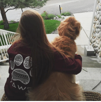 Thanks @claire__noddings for the support in our maroon long sleeve 🐾 order now at PawzShop.com: ANN Thanks @claire__noddings for the support in our maroon long sleeve 🐾 order now at PawzShop.com