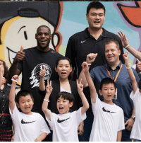 Yao Ming continues to make everyone else look small. (Via @uninterrupted): ANNA Yao Ming continues to make everyone else look small. (Via @uninterrupted)