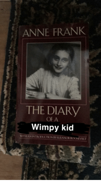 Anne Frank: ANNE FRANK  THE DIARY  OF A  Wimpy kid  WITH AN INTRODUCTION BY ELEANOR ROOSEVELT