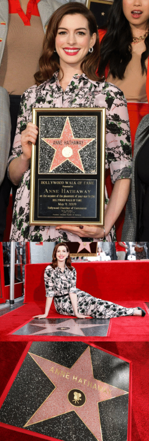 onlyanniehathaway:  And today, Annie finally got her star on the Walk of Fame! Congratulations, Annie!!!  ❤️❤️❤️  : ANNE HATHAWAY  HOLLY WOOD WALK OF FAME  Presented to  ANNE HATHAWAY  on the ocrasion of the placement of your star in the  HOLLYWOOD WALK OF FAME  May 2019  Hollywood Chamber of Commerce  ana Ghadban   WALKOFFAME.COM onlyanniehathaway:  And today, Annie finally got her star on the Walk of Fame! Congratulations, Annie!!!  ❤️❤️❤️