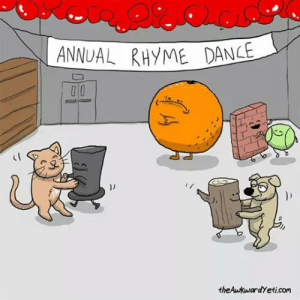 laughoutloud-club:  Meanwhile, At The Annual Rhyme Dance: ANNUAL RHYME DANCE  ))  theAwkwardYeti.com laughoutloud-club:  Meanwhile, At The Annual Rhyme Dance