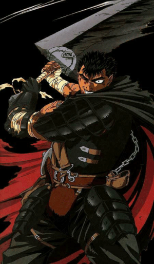 anomalisticofferings:  Black Swordsman Arc Guts, 97 anime version.: anomalisticofferings:  Black Swordsman Arc Guts, 97 anime version.