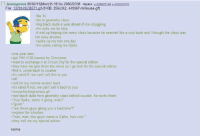 """<p>Wholesome Greentext (expost from r/greentext)</p>: Anonymous 09/02/13(Mon)15:18 No.208022036 Replies: 208022149208022270  File: 1378149538571 aif-(9 KB, 256x342, 449967-milhouse gif)  be 14  >be in geometry class  >big black dude a year ahead of me struggling  he asks me for help  l end up helping him every class because he seemed like a cool dude and I thought the class was  too easy anyway  >spike up my hair one day  he starts calling me Spike  sone year later  get THX-1138 (movie) for Christmas  swant to exchange it at Circuit City for the special edition  sthey have me give them the movie as I go look for the special edition  find it, come back to counter  sit's rated R, we can't sell this to you  swtf  ask for my normal version back  sit's rated R too, we cant sell it back to you  sareyoufuckingserious.gif  ssee black dude from geometry class behind counter, he works there  >hey Spike, how's it going, man?""""  """"good.  are these guys giving you a hard time?  sexplain the situation  """"nah, man, this guy's name is Spike he's cool.""""  sthey sell me my special edition  karma <p>Wholesome Greentext (expost from r/greentext)</p>"""