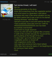 """Dinosaur, Mfw, and Shit: Anonymous 