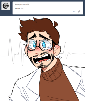 Fucking, Tumblr, and Anonymous: Anonymous said:  Henrik ES? cool-beans-jeans: Finally finished one of these, only to realize he just. He just looks like that fucking cat