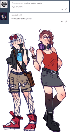 ask-art-student-prussia:  oo never did a 2p!Nyo!M/A. heres one for 5 asksHere's the 2P M/A and here's the Nyotalia M/A. I had to figure out new designs for this one.Also here's the image on my main: Anonymous said to ask-art-student-prussia:  Nyo! 2P MWA?o   creatastix said:  Continue the 2p MA, please! ask-art-student-prussia:  oo never did a 2p!Nyo!M/A. heres one for 5 asksHere's the 2P M/A and here's the Nyotalia M/A. I had to figure out new designs for this one.Also here's the image on my main